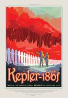 NASA Kepler-186f Space Travel Poster