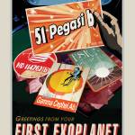 """NASA First Exoplanet Space Travel Poster"" by FineArtClassics"