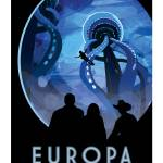 """NASA Europa Space Travel Poster"" by FineArtClassics"