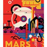 """NASA Mars Tours Space Travel Poster"" by FineArtClassics"