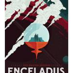 """NASA Enceladus Tours Space Travel Poster"" by FineArtClassics"