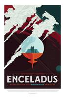 NASA Enceladus Tours Space Travel Poster