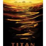 """Nasa Travel Poster Titan"" by FineArtClassics"