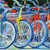 """The Bicycle Shop yellow bike"" by RDRiccoboni"