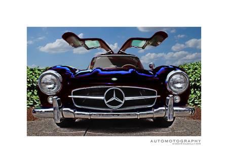 Black Merdedes-Benz Gullwing Poster