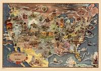Bohrod's America, its history, Map (1946)