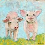 Piggie Friends | Pig art Prints & Posters