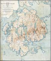 Map of Mount Desert Island, Maine, 1896