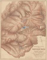 Vintage Adirondack Mountains Topography Map (1873)