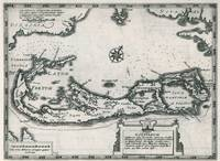 Vintage Map of Bermuda (1636)