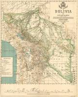 Vintage Map of Bolivia (1905)