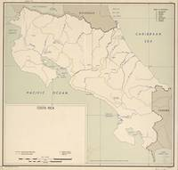 Vintage Map of Costa Rica (1950)