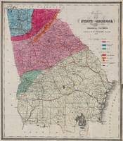 Vintage Georgia Geological Map (1849)