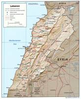 Map of Lebanon (2002)