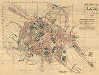 Vintage Map of Lugo Spain (1915)