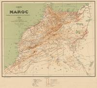 Vintage Map of Morocco (1912)