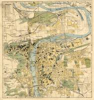 Vintage Map of Prague Czech Republic (1905)