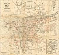 Vintage Map of Prague (1882)