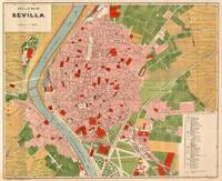 Vintage Map of Seville Spain (1918)