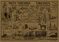 Vintage Map of Virginia & West Virginia (1912) - T