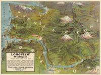 Vintage Washington and Oregon Pictorial Map (1923)