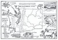 Vintage Map of Washington State (1912)