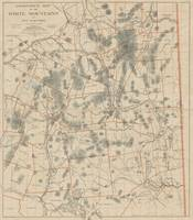 Vintage Map of The White Mountains (1896)