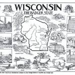 Vintage Map of Wisconsin (1912) Prints & Posters