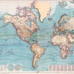 Vintage Map of The World (1897) Prints & Posters