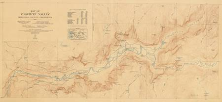Vintage Map of Yosemite Valley (1907)