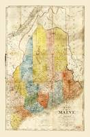 Map of the State of Maine (1843)