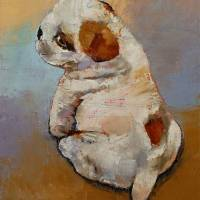 Naughty Puppy Art Prints & Posters by Michael Creese