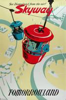 Disney Skyway of Tomorrowland Vintage Poster