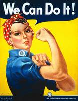 We Can Do It Rosie the Riveter Vintage Poster