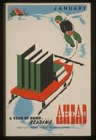 A Year of Good Reading Vintage Poster