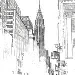 42nd Street New York City Chrysler Building  by RD Riccoboni
