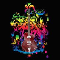 Bass Guitar Color splash