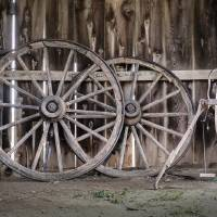 """""""Inside the Barn, Will Rogers Birthplace"""" by DavidCJennings"""