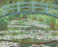 The Japanese Footbridge by Monet