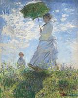Woman with a Parasol, Madame Monet and Her Son