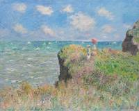 Cliff Walk at Pourville by Claude Monet