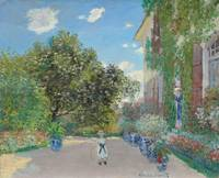 The Artist's House at Argenteuil by Monet