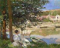 On the Bank of the Seine by Claude Monet