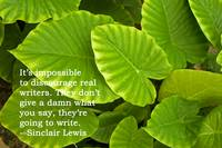 Green Leaves # 1 with Sinclair Lewis quote