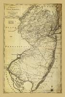 State of New Jersey Map (circa 1795)