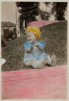 [Baby sitting on grass] ca. 1940 Gelatin silver pr