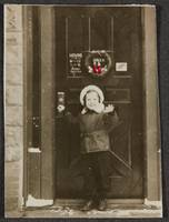 [Boy standing in doorway] ca. 1940 Gelatin silver