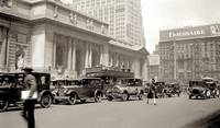 1920s photo  NYC Car Autos BUSY Street Scene 5th A