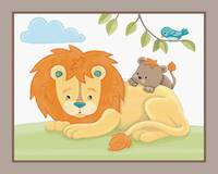 Giraffe Safari Collection - Lion and Cub