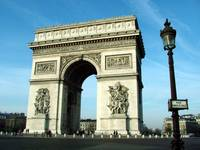 Arc de Triomphe horizontal with street sign